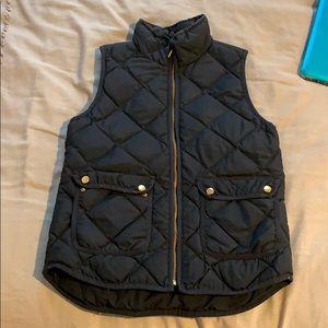 Navy JCrew quilted vest
